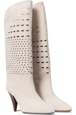 Isabel Marant Lurrey suede knee-high boots
