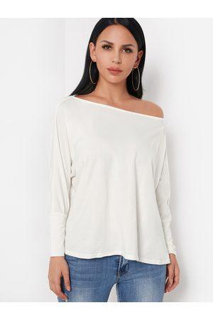 YOINS BASICS Oversize One Shoulder Long Sleeved Top