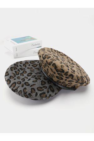 YOINS Leopard Beret Hat
