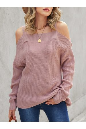 YOINS Cold Shoulder Long Sleeves Sweater