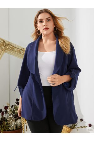 YOINS Plus Size Lapel Collar Long Sleeves Blazer