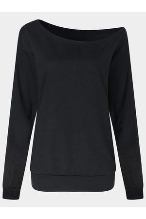 YOINS BASICS Sexy One Shoulder Long Sleeves T-shirt