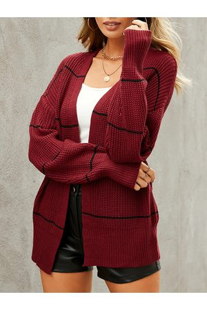 YOINS Striped Design Long Sleeves Cardigan