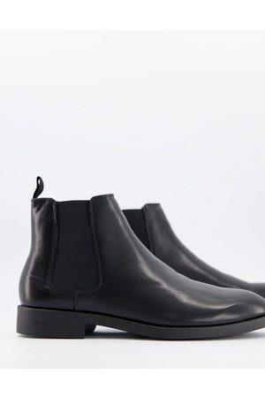 ASOS Chelsea boots in faux leather with sole