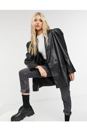 ASOS Leather look jacket with extreme sleeve in