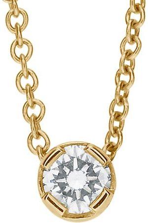 SOPHIE BILLE BRAHE Classic Collection 18K Yellow & Diamond Diamant Simple Pendant Necklace