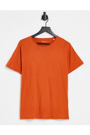 Knowledge Cotton Apparal Organic cotton t-shirt in rust