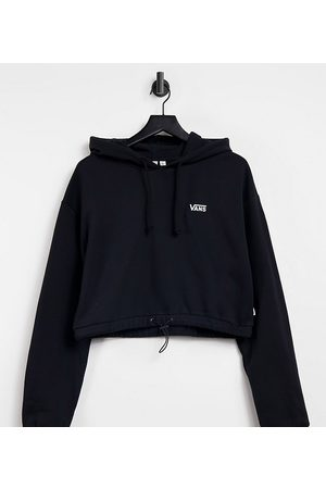 Vans Left Chest Small Logo cropped draw cord hoodie in Exclusive at ASOS