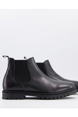 Silver Street Chunky chelsea boots in leather
