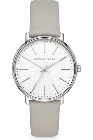 Michael Kors Watches - Pyper Three-Hand Leather Strap Watch