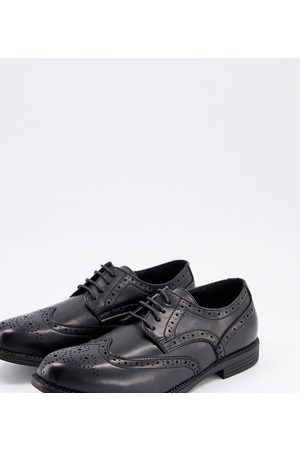 Truffle Collection Wide fit formal lace up brogues in