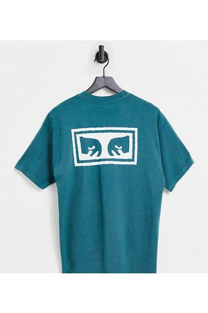 Obey Jumbled eyes back print t-shirt in exclusive at ASOS