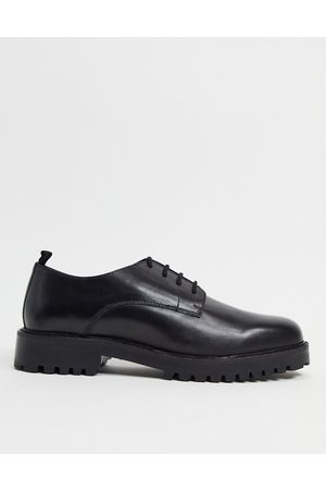 WALK LONDON Sean derby lace up shoes in leather