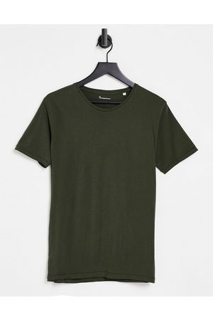 Knowledge Cotton Apparal Organic cotton t-shirt in khaki