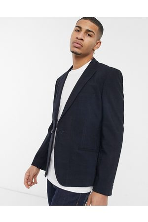 ASOS Skinny suit jacket in twill windowpane check in