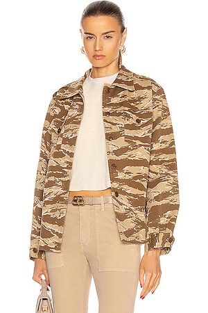 NILI LOTAN Trent Shirt Jacket in ,Camo,Neutral