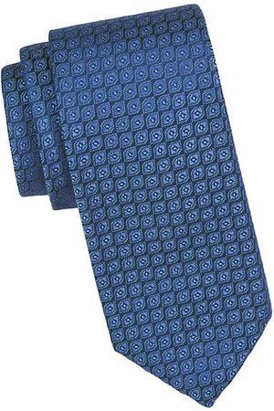 Charvet Men Neckties - Neat Diamond Silk Tie