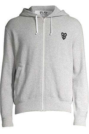 Comme des Garçons Sweatshirts - Play Double Heart Hoodie