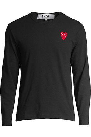 Comme des Garçons Play Double Heart Long-Sleeve T-Shirt