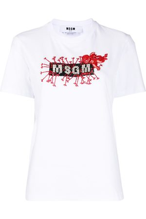 Msgm Logo print cotton T-shirt