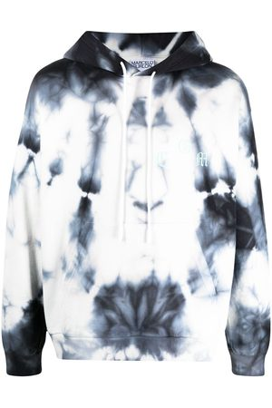 MARCELO BURLON Logo-print tie-dye hoodie