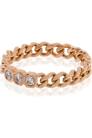 Shay 18kt rose chain-link diamond ring