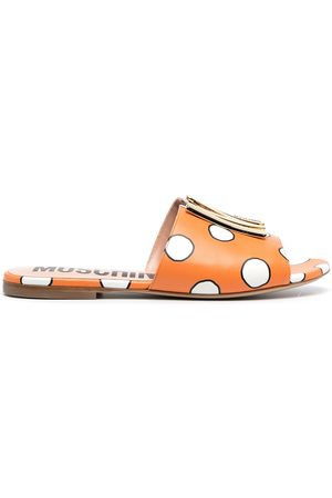 Moschino Polka-dot logo-plaque sandals