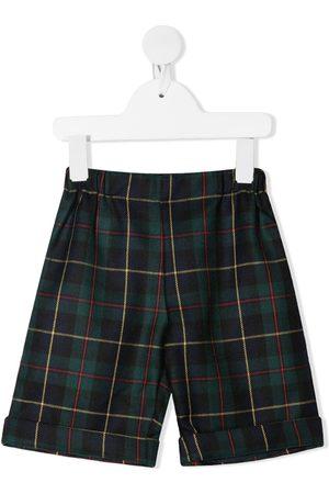 LA STUPENDERIA Tartan-print slip-on shorts