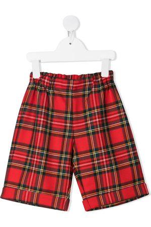 LA STUPENDERIA Check-print slip-on shorts