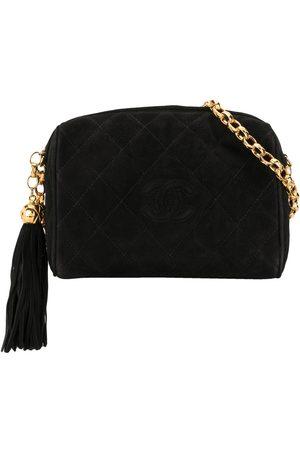 CHANEL 1992 diamond quilt tassel CC shoulder bag