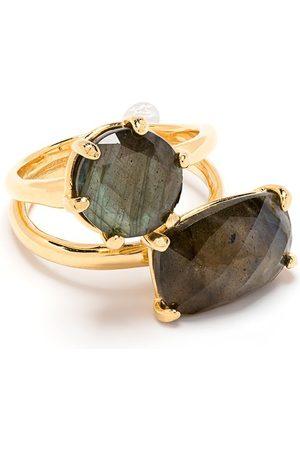 WOUTERS & HENDRIX Geometric stone embellished ring