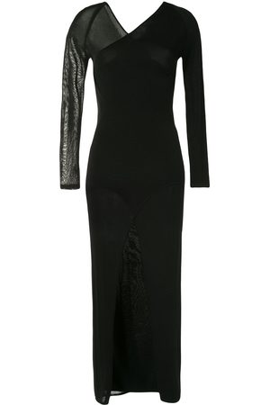 DION LEE Asymmetric long-sleeve dress