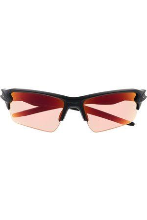 Oakley Wraparound-frame tinted sunglasses