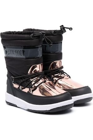 Moon Boot Baby Wellingtons - Metallic panel snow boots