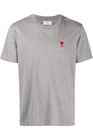 Ami Logo-embroidered short-sleeve T-shirt