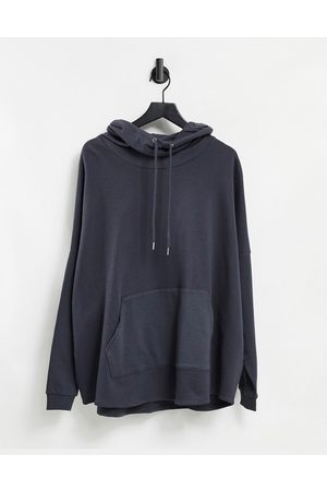 ASOS Extreme oversized funnel neck hoodie in washed