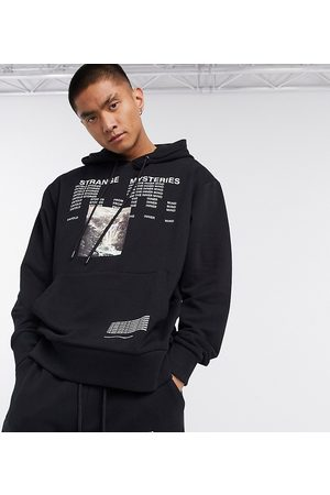 COLLUSION Hoodie with text print in co-ord