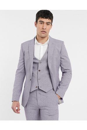 ASOS Men Blazers - Wedding super skinny suit jacket in dark cross hatch