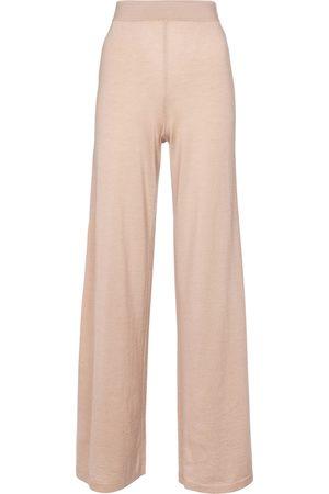 Alaïa High-rise cashmere-blend pants