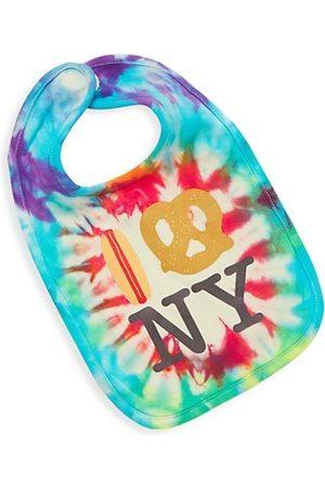 PiccoliNY Baby's Tie-Dye Hot Dog Pretzel NY Bib