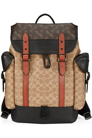 Coach Men Rucksacks - Hitch Signature Coated Canvas & Leather Backpack