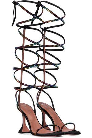 Amina Muaddi X AWGE LSD embellished satin sandals