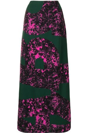 Colville Abstract print long skirt