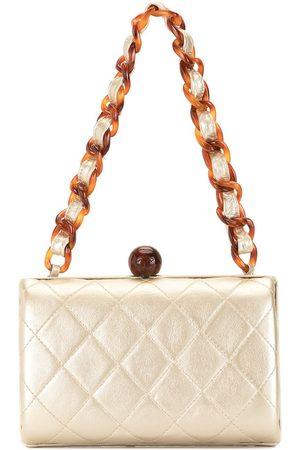 CHANEL 1997 metallic tortoiseshell chain handbag