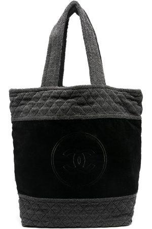 CHANEL Terry CC cloth tote bag