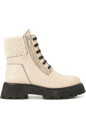 3.1 Phillip Lim Shearling-trimmed leather ankle boots