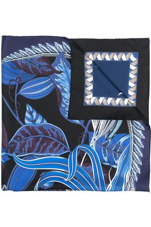 Salvatore Ferragamo Macro orchid-print silk scarf