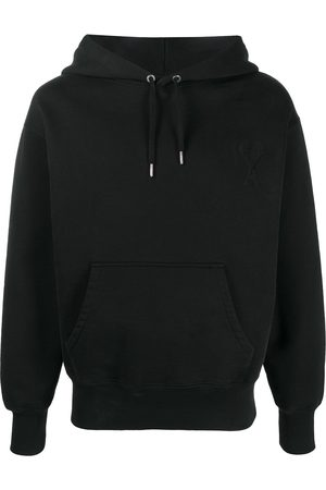 Ami Logo patch cotton hoodie
