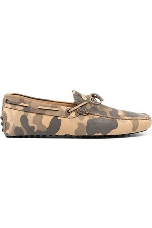 Tod's Gommino camouflage-print driving shoes