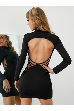 YOINS Sexy Backless Bodycon Dress